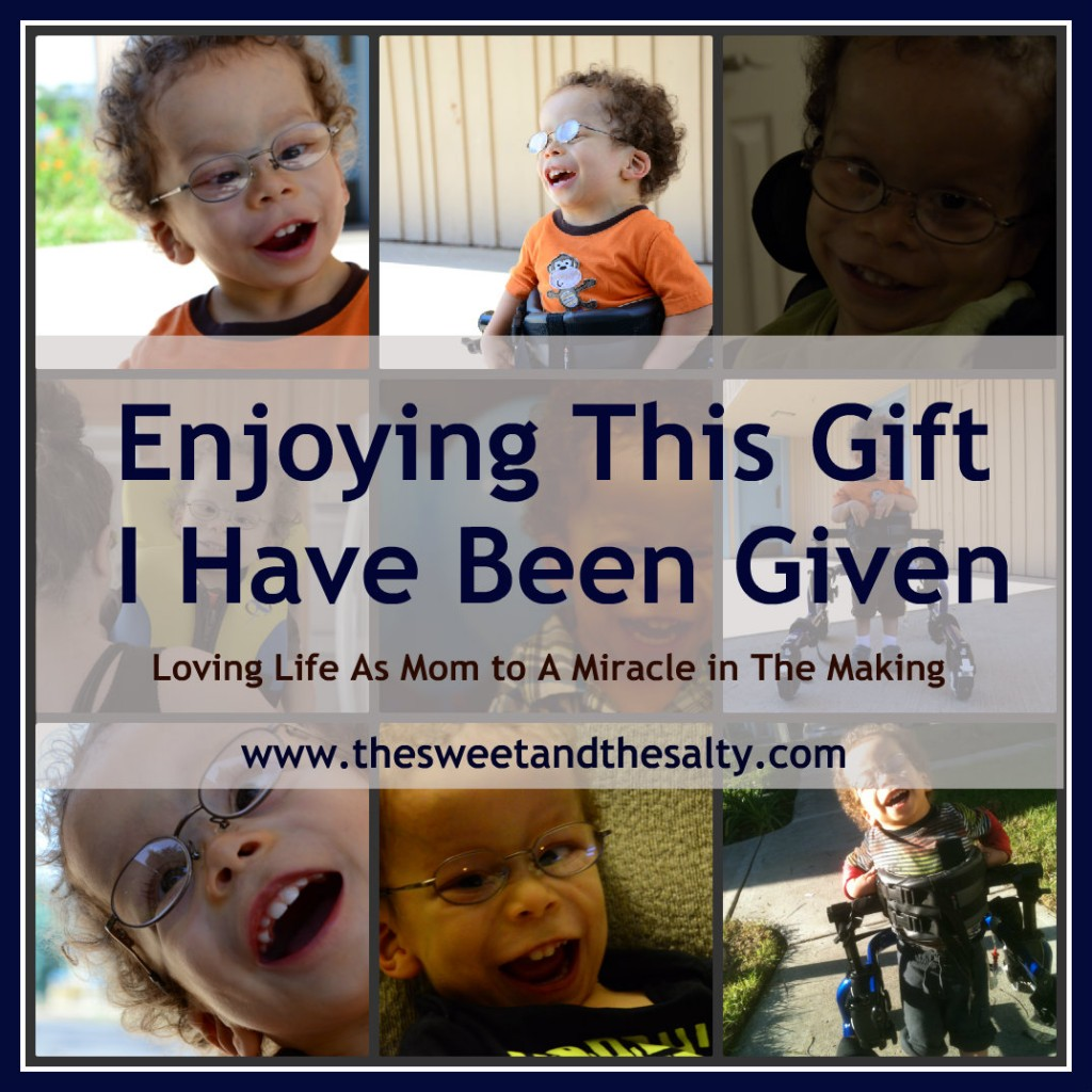Enjoying the miracle of special needs parenting www.thesweetandthesalty.com